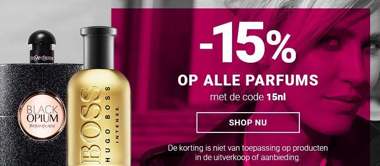 15% korting op alle parfums @notino