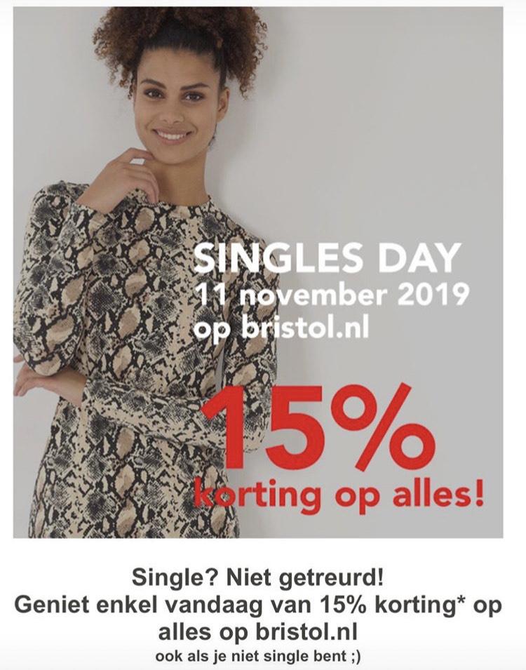 Online bij bristol 15% korting