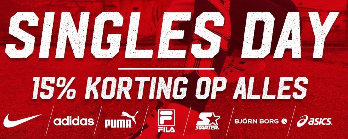 Singles Day: 15% korting op alles @ Aktiesport