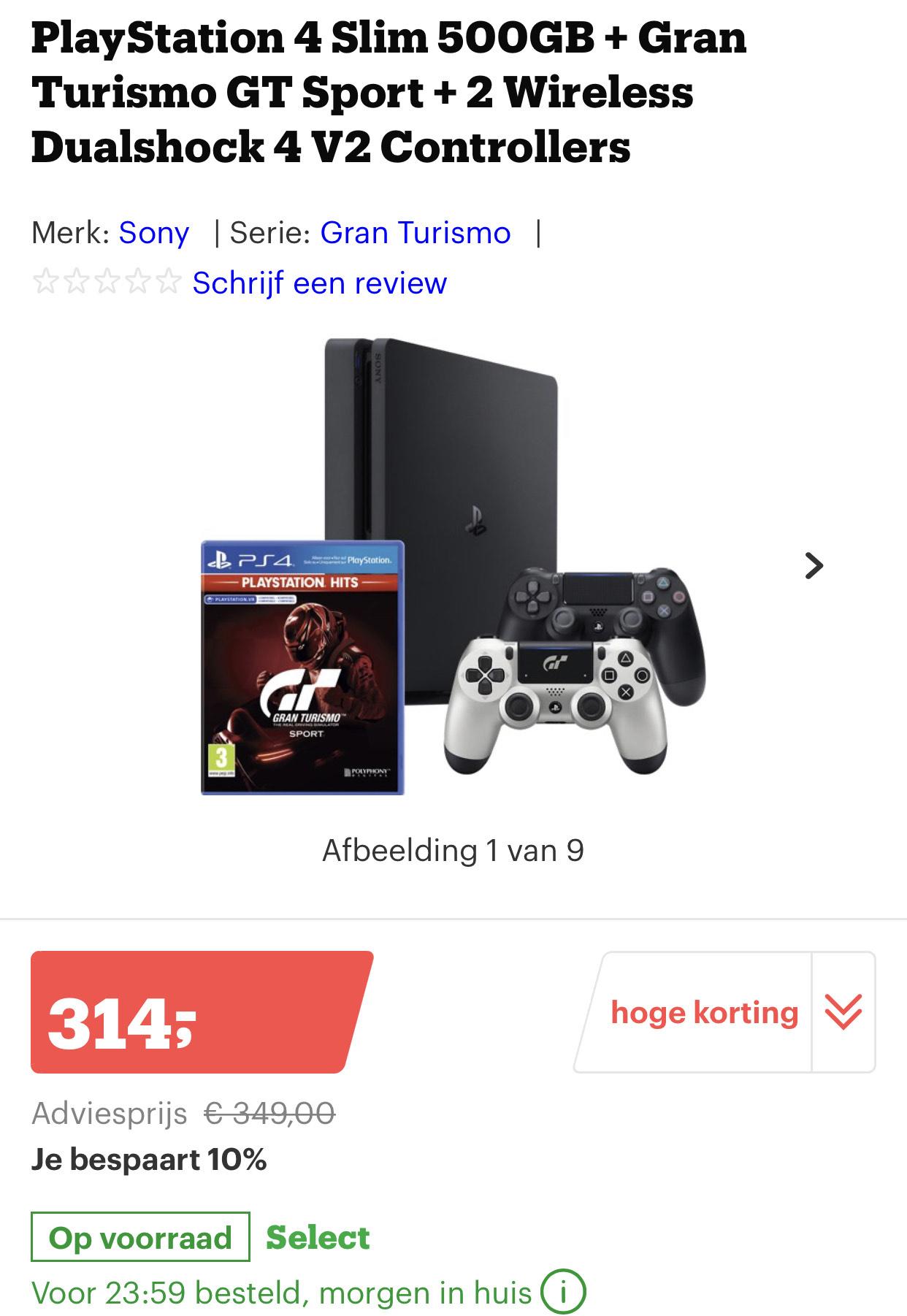 PS4 Granturismo met 2 controllers