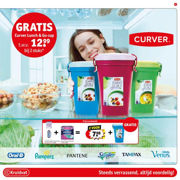gratis curver lunch en go cup twv 12,99 bij aankoop 2 actieproducten(grensdeal kruidvat Belgie)