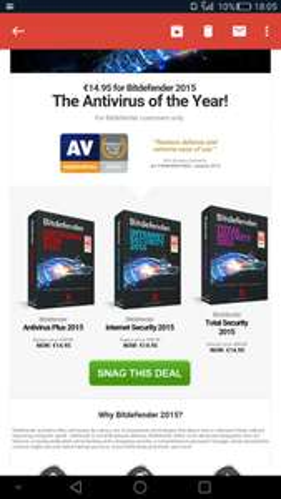 Bitdefender 2015 (alle versies) voor €14,95