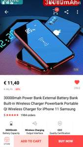 30000mAh wireless Powerbank nu voor €11,40