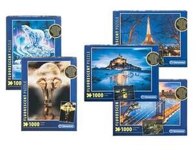 Clementoni puzzel 1000 stukjes (3d of fluoriserend) @lidl-shop.nl