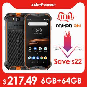 """11.11 aanbieding in Azië. Ulefone Armor 3W Rugged Smartphone Android 9.0 IP68 5.7"""" Helio P70 6G+64G."""