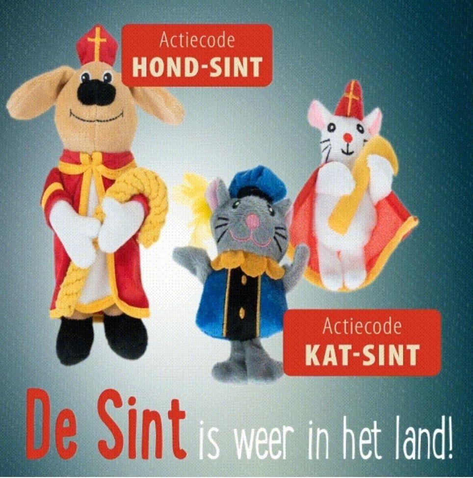 Gratis Sinterklaas knuffel voor honden/katten @ Zooplus min. besteding € 39,-