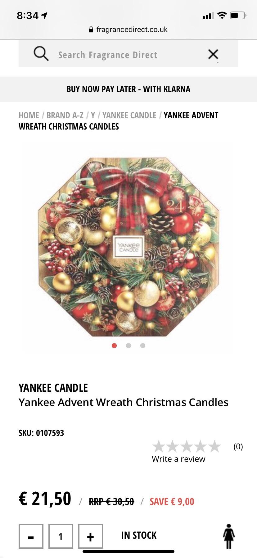 Yankee Candle Adventskalender 24 theelichtjes