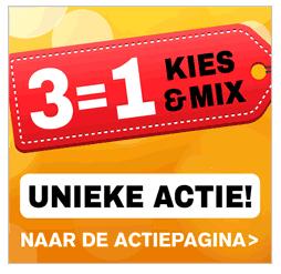 3=1 op 31 producten @ De Tuinen