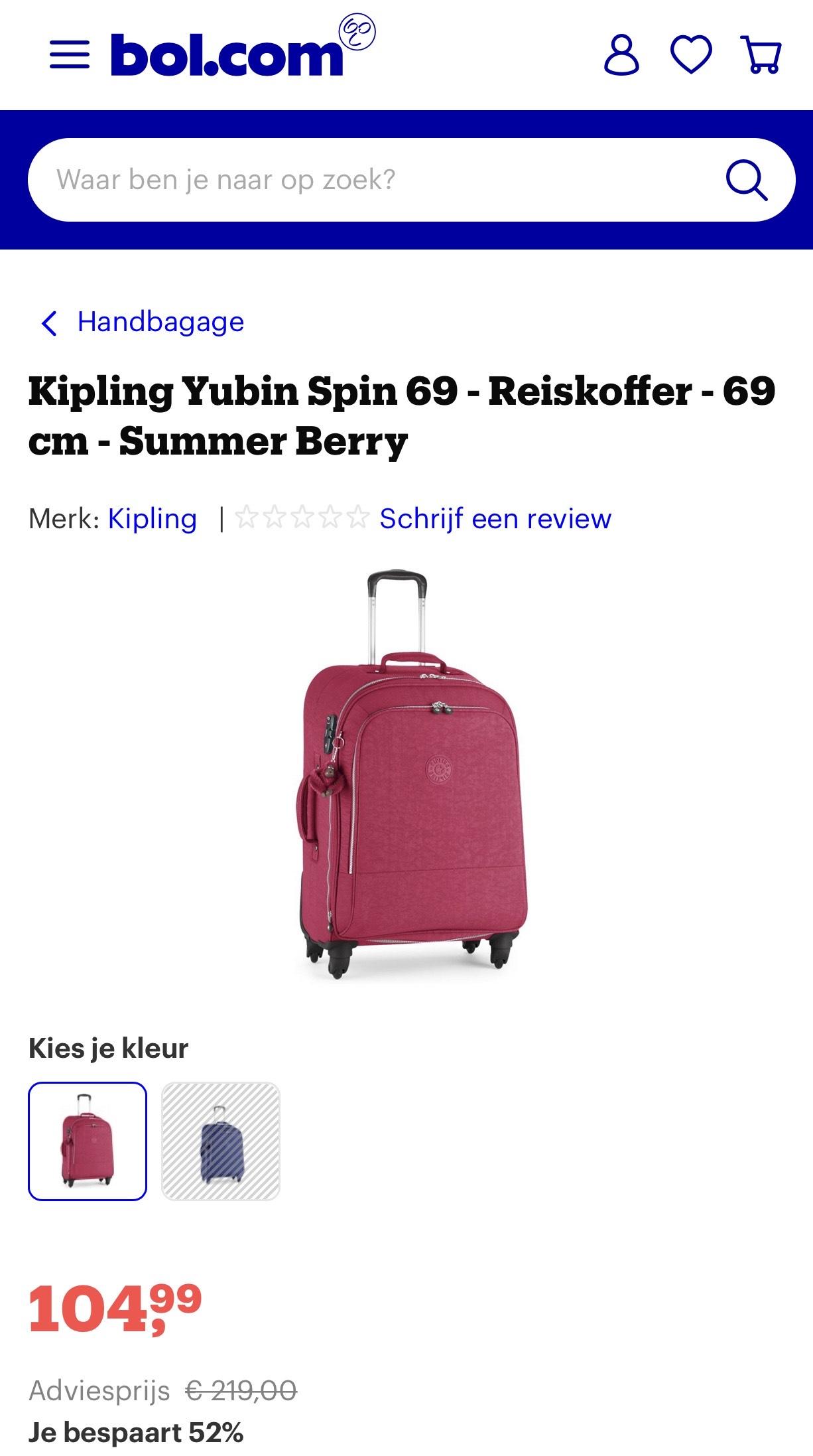 Kipling Yubin Spin 69 - Reiskoffer - 69 cm - Summer Berry
