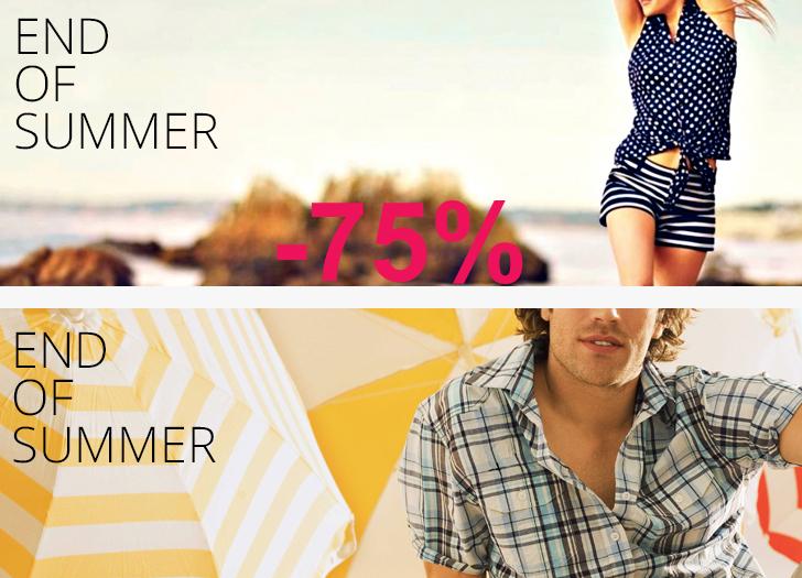 Supersale met 75% korting op topmerken - dames & heren - @ Shopvip + GRATIS verzending met code