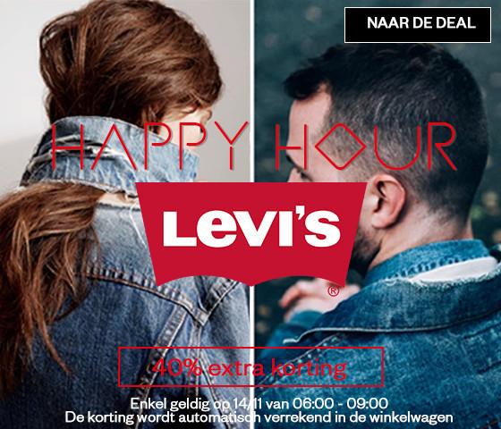 Actie: 6-9u: 40% EXTRA korting op Levi's @ Maison Lab