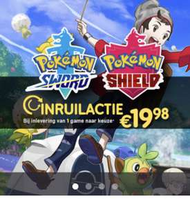 Inruilactie pokemon sword & shield switch bij gamemania