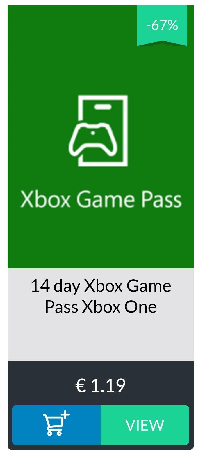 1,5 maand Xbox Game Pass voor €0,59