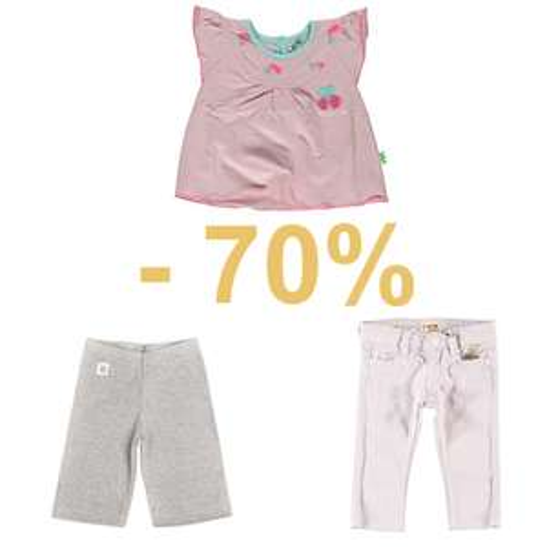70% korting op babykleding @ Kixx Online