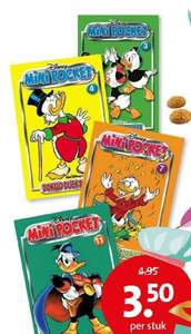 Donald Duck mini pockets versies 3, 4, 7 of 11 voor €3,50 @ Bruna [winkels]