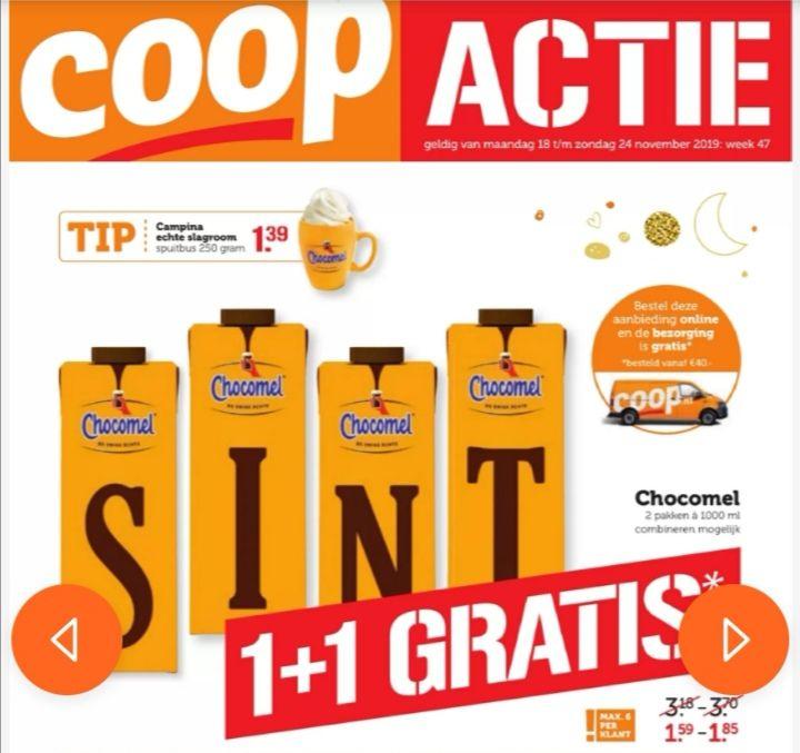 Chocomel 1+1 & gratis verzending