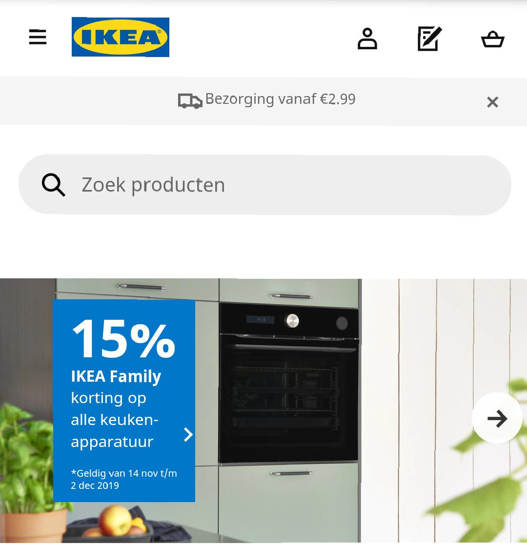 IKEA apparatuur actie: 15% korting