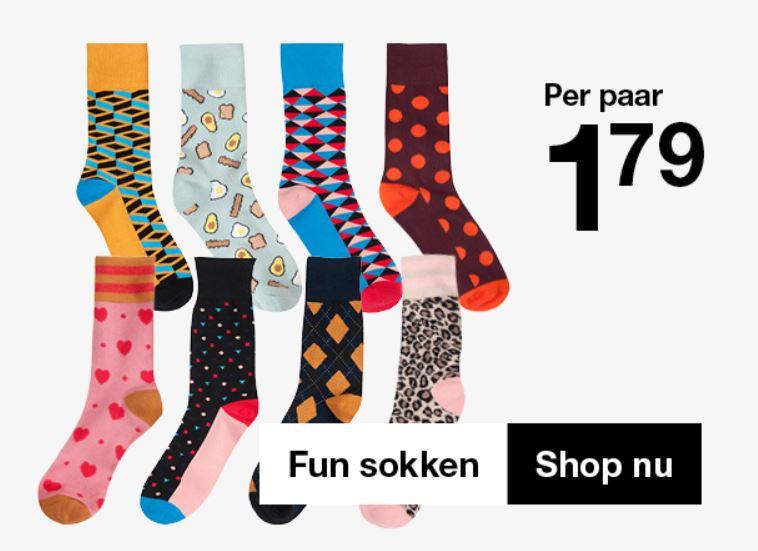 'Fun' sokken €1,79 @ Zeeman