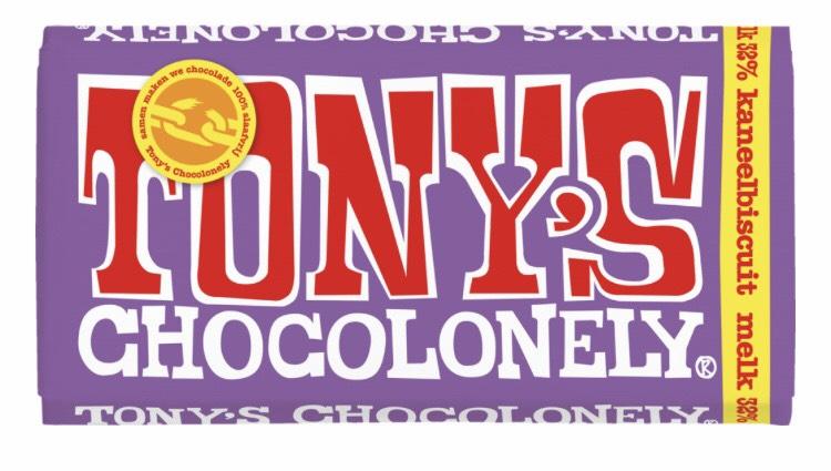 Gratis Tony Chocolonely kaneelbiscuit melk PostNL bij Jumbo
