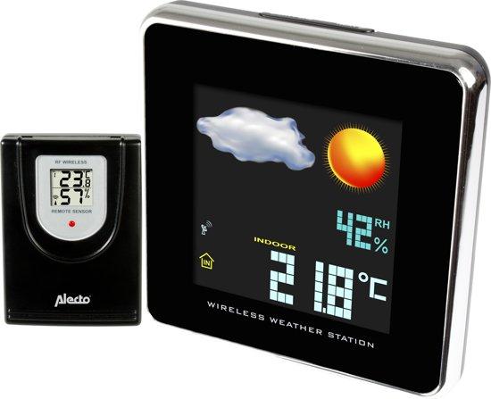 Alecto weerstation met buitensensor en kleurenscherm WS-1800