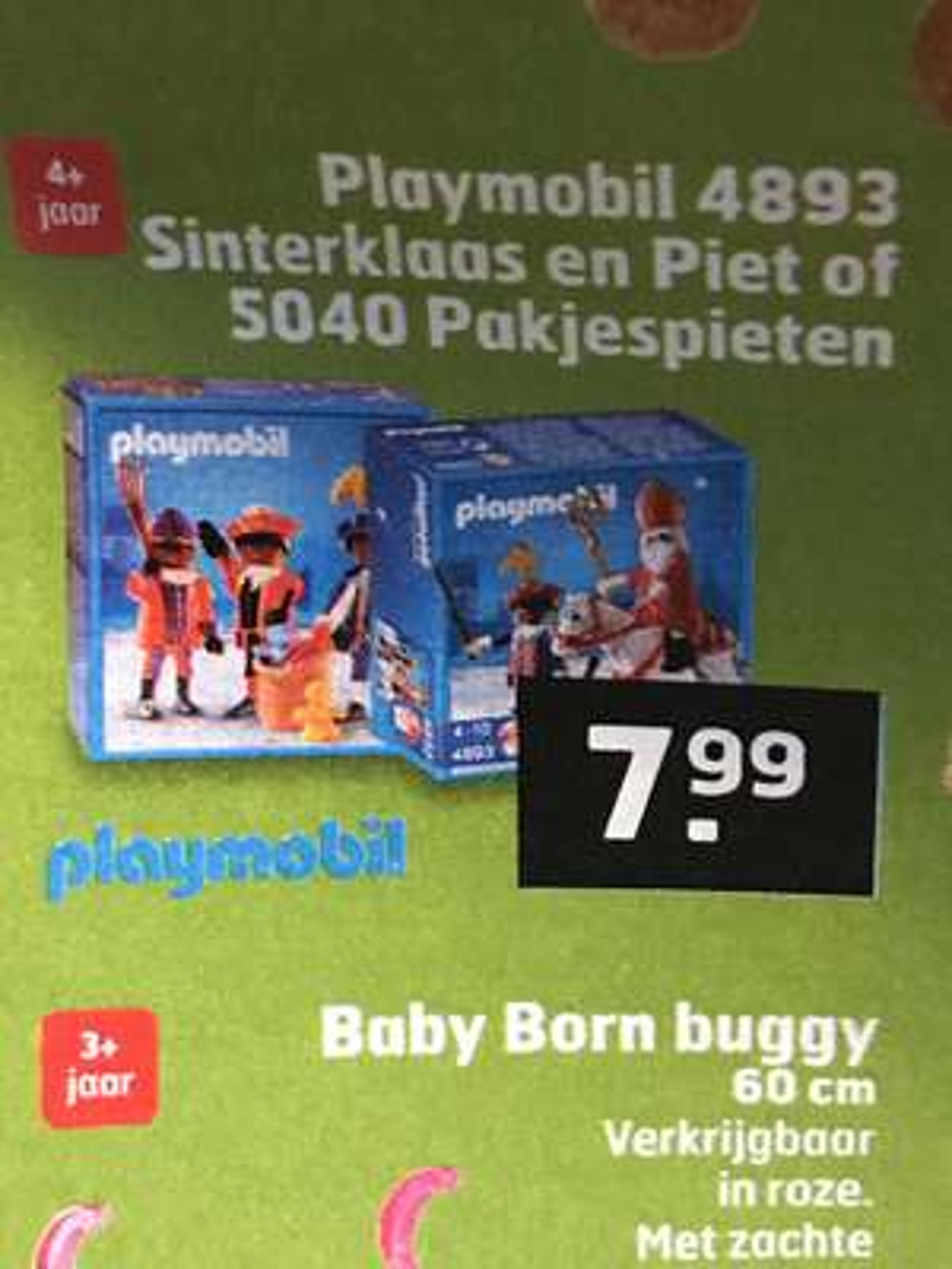 Playmobil sinterklaas en pieten 4893 en 5040