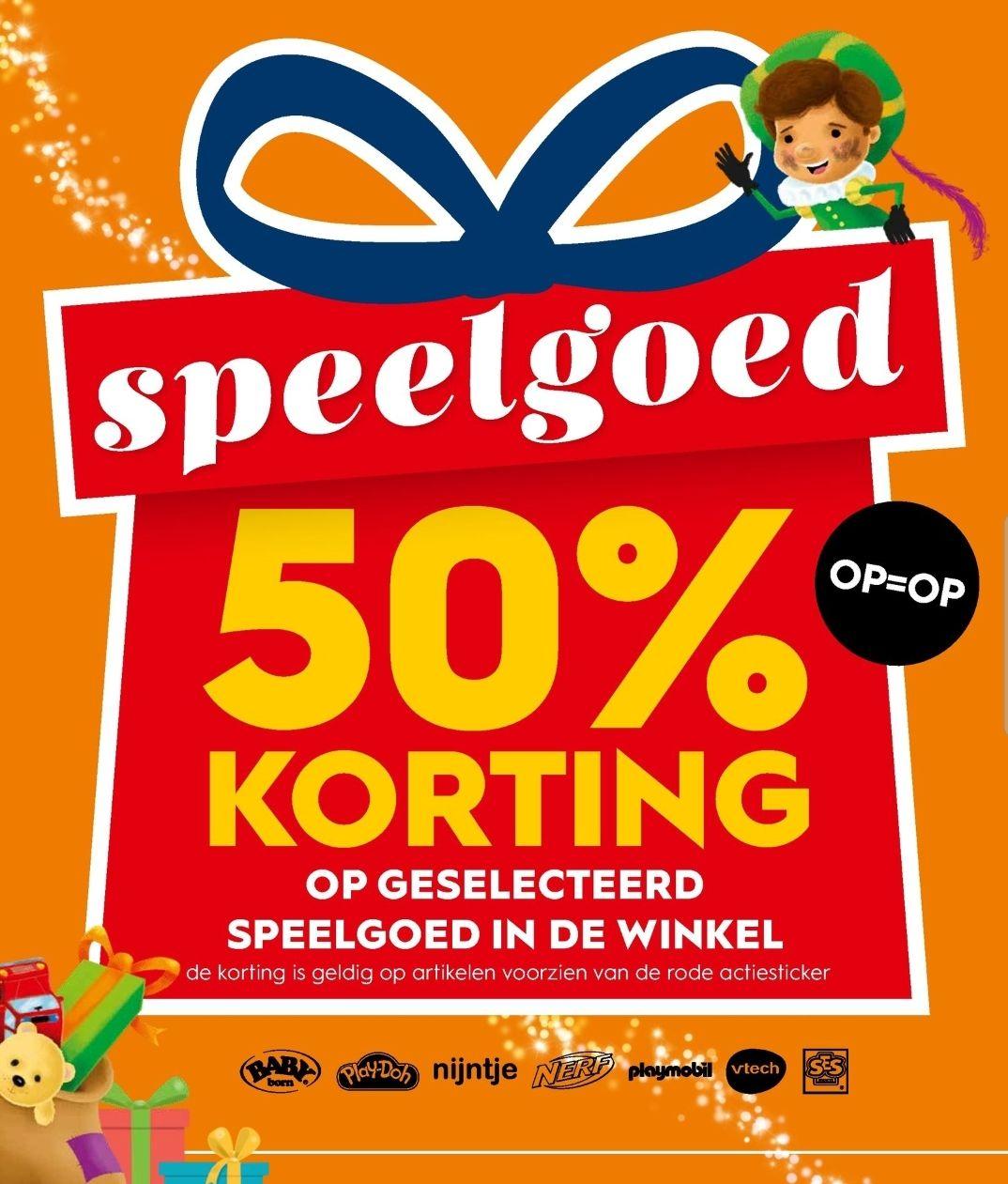 @Blokker. 50% korting op speelgoed met rode stickers & 20% op Frozen speelgoed.