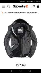 Superdry SD windsprinter met capuchon Maat S