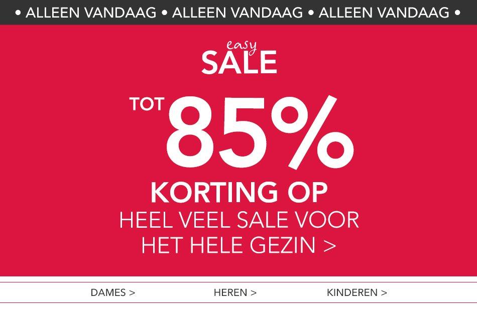 Vandaag: tot 85% korting in de SALE @ Wehkamp