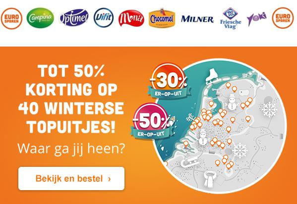 Tot 50% korting op winterse uitjes met Eurosparen