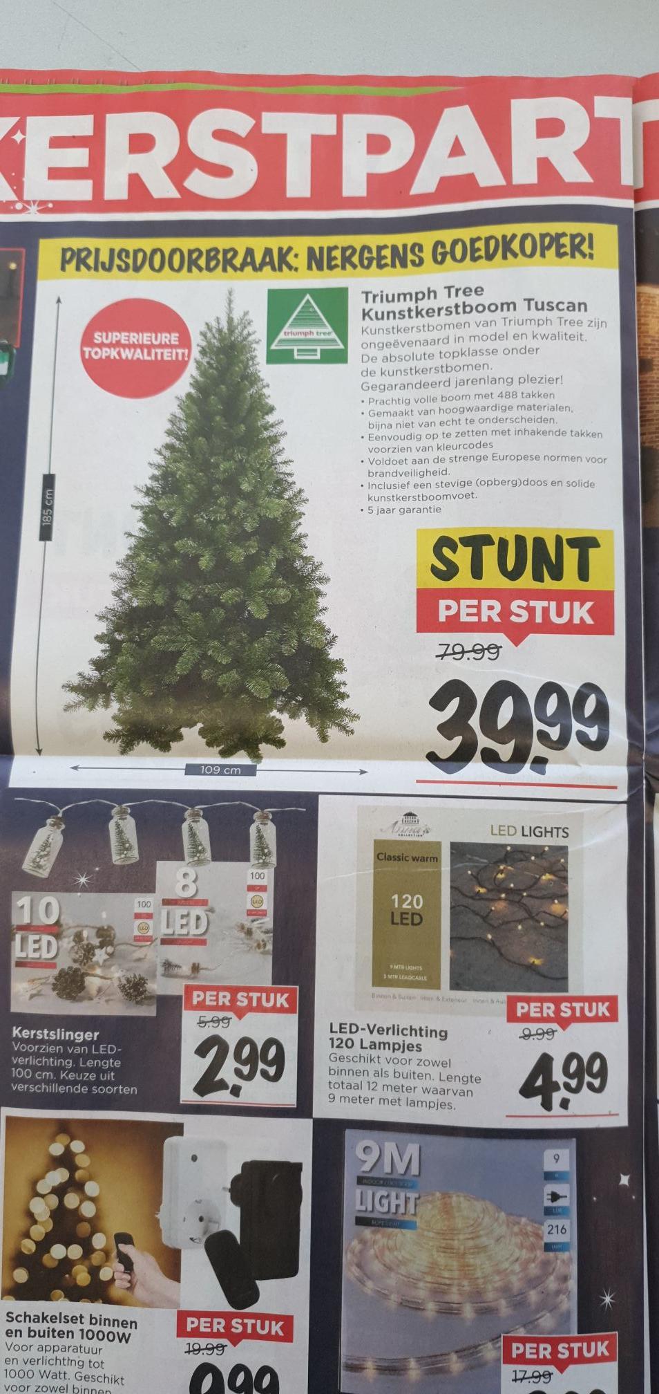 Superaanbieding Vomar: Triumph Tree kunst kerstboom 39,99 (ipv 75euro)
