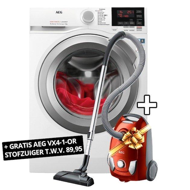 AEG L6FBNR1 8kg wasmachine + AEG stofzuiger €527 na cashback @ expert