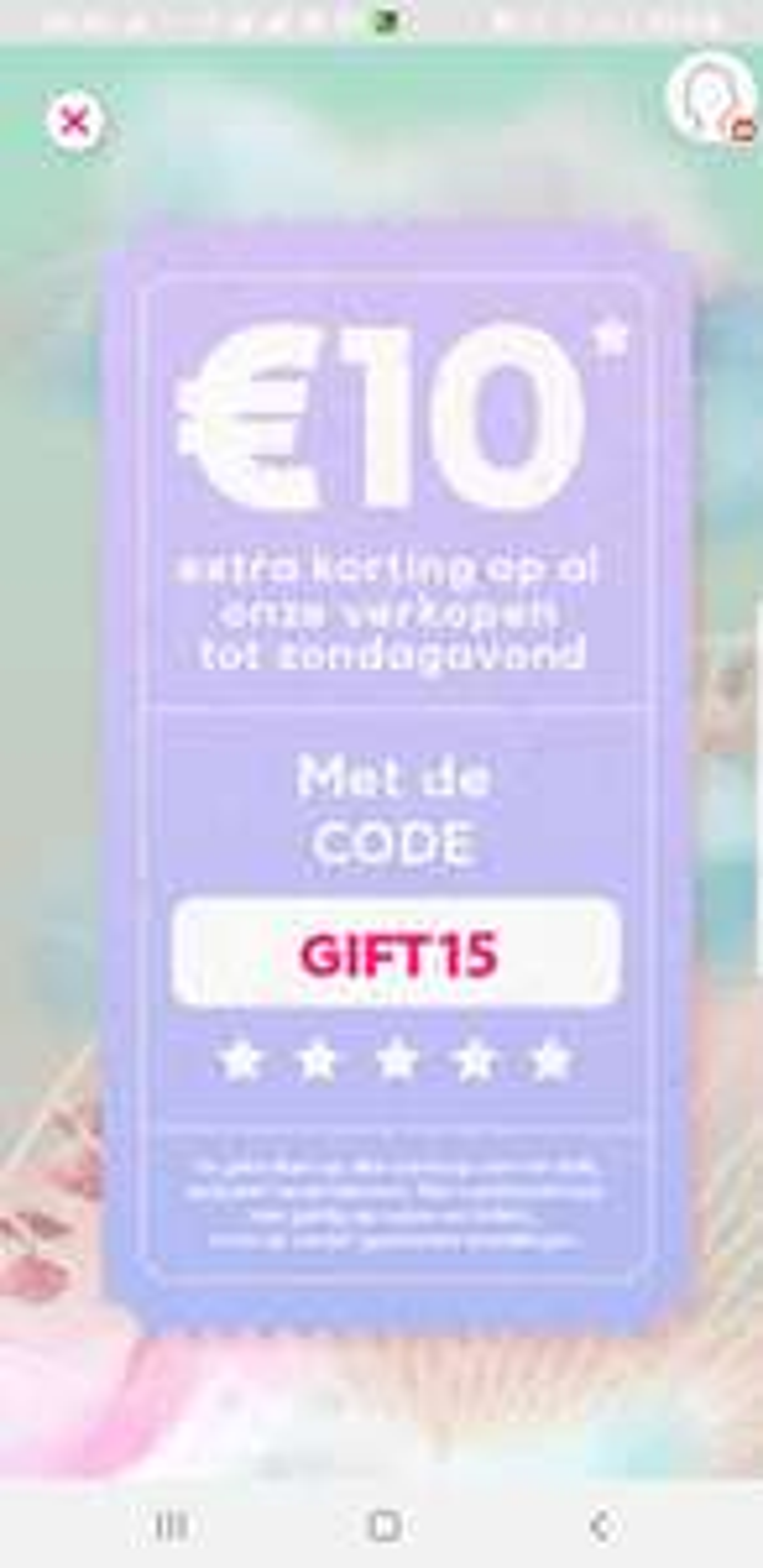 [prijsfout] Veepee extra korting €10