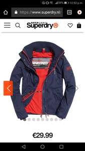Superdry Polar SD-Wind Attacker maat S en XXL