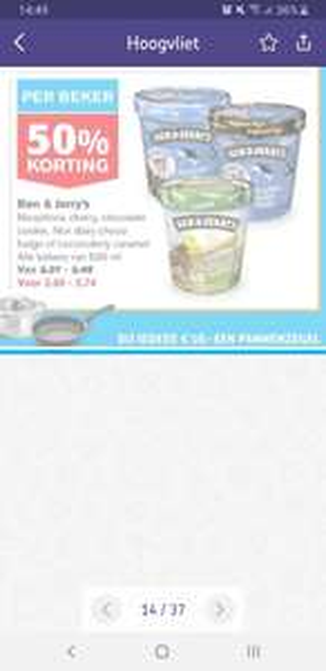 Ben&Jerry's 50% korting @Hoogvliet