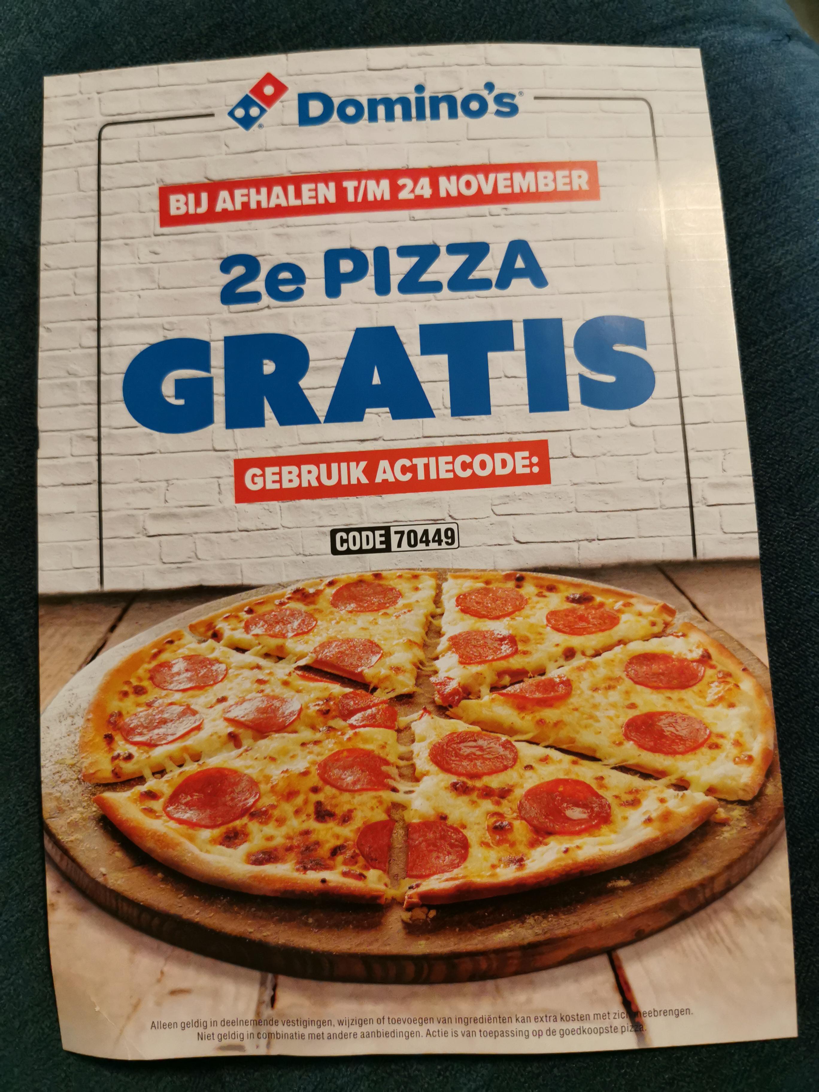2e Pizza gratis Apeldoorn 70449