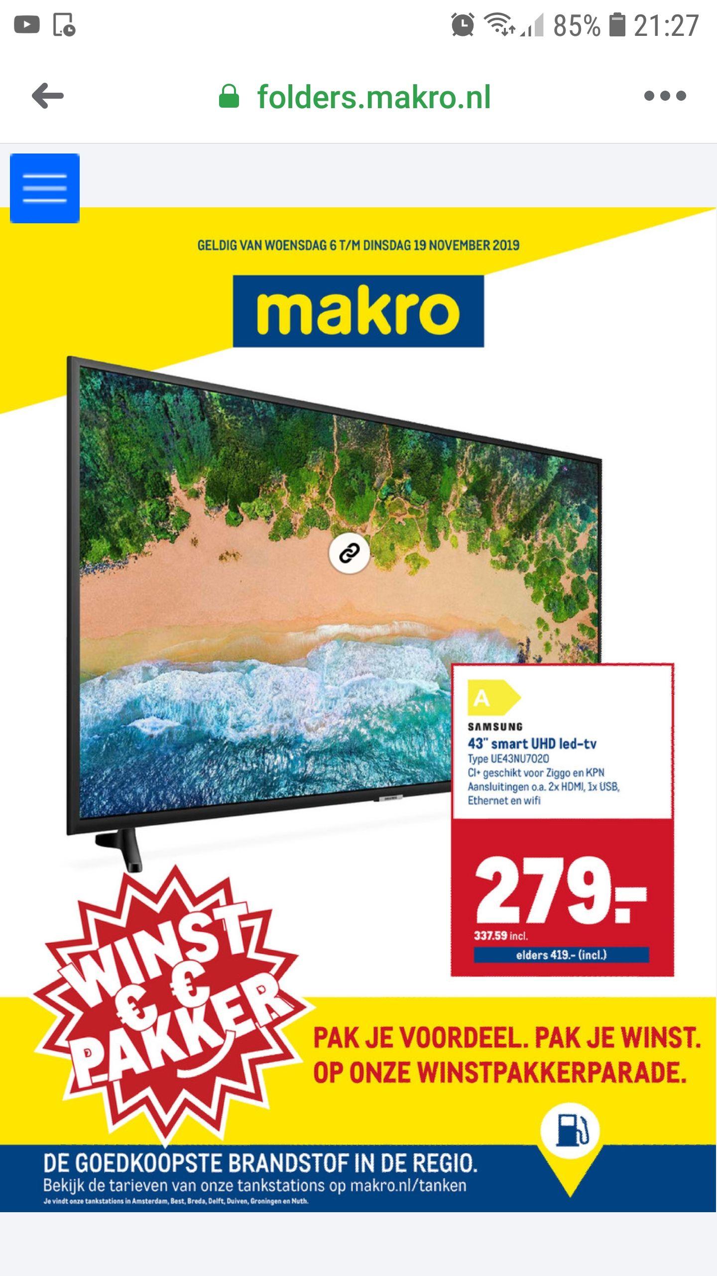 voordelige smart tv / 4k samsung phillips bij de Makro