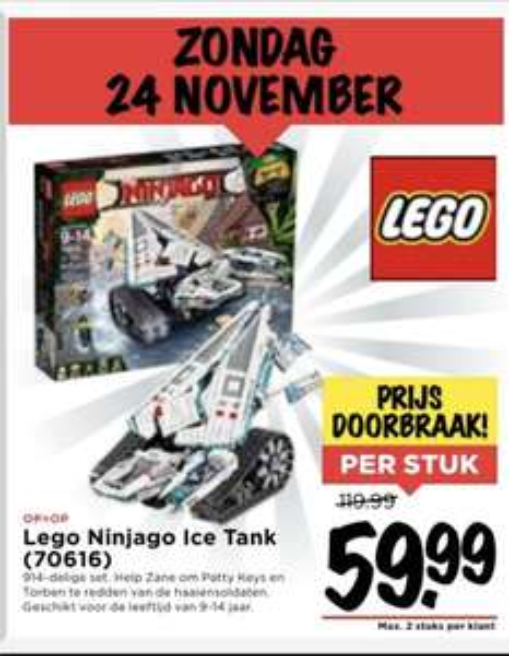 Hoge korting! Lego Ninjago Ice Tank (70616) VOMAR