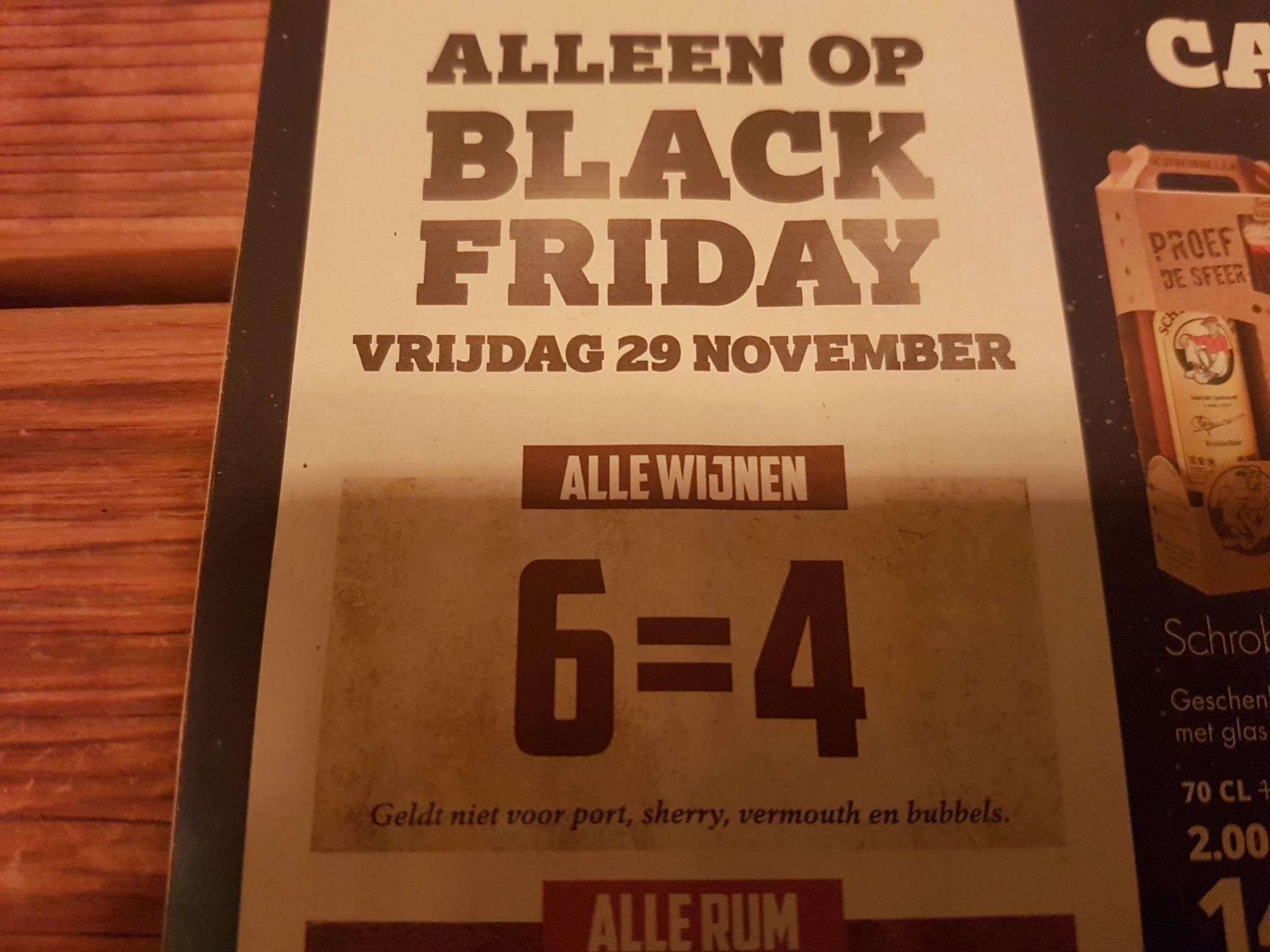 Black Friday deal: Alle wijnen, 6 = 4 bij Mitra