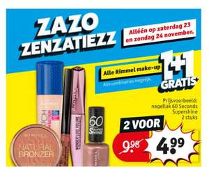 Alle Rimmel make-up 1+1 gratis