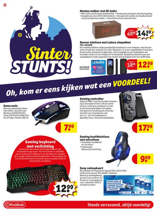 @Kruidvat Sinterstunts voor Gamers (keyboard met verlichting, hoofdtelefoon met microfoon, muis en controller)