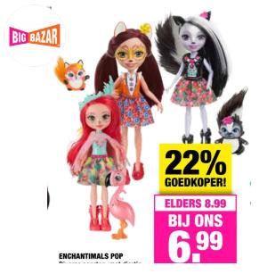 @Bigbazar 22% korting op Enchantimals van 8,99 voor 6,99 eur + extra korting 2e halve prijs