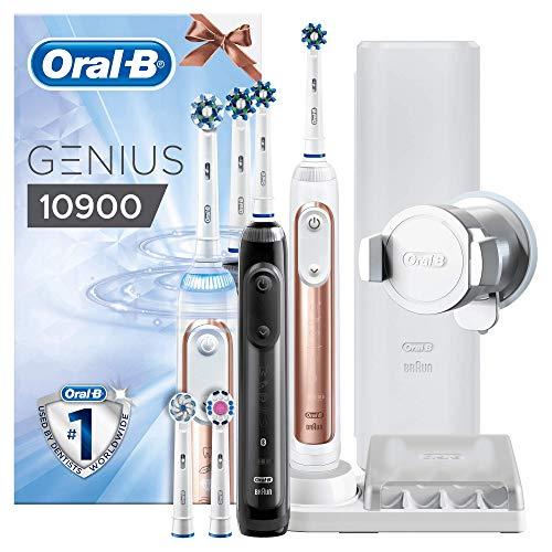 Oral-B Genius 10900 Elektrische tandenborstel met 2e Handstuk, roségoud en zwart