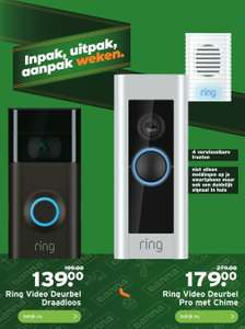 GAMMA Ring video deurbel Pro incl Chime €179