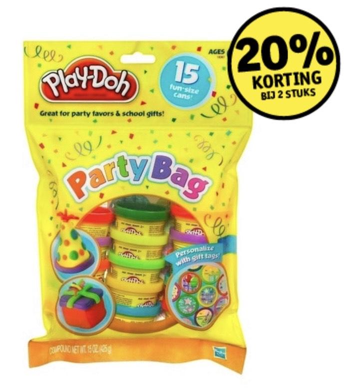 Play-Doh Party Bag 15 stuks voor €5,99 | 30 stuks voor €9,58 @ Kruidvat