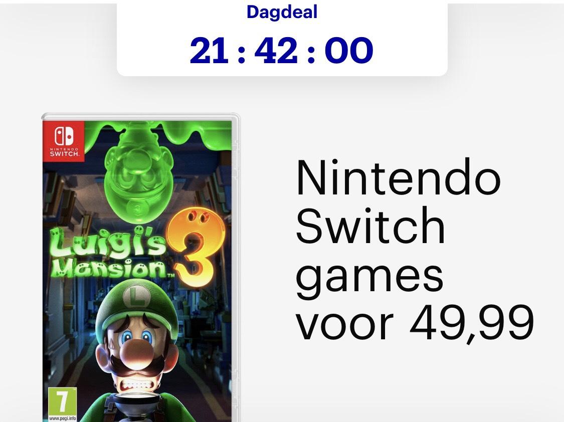 Nintendo Switch Games €49,99 Dagdeal @Bol.com