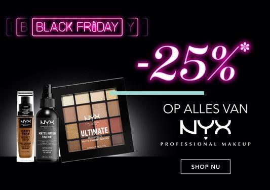 Black Friday: 25% korting op alle make-up van NYX bij Douglas
