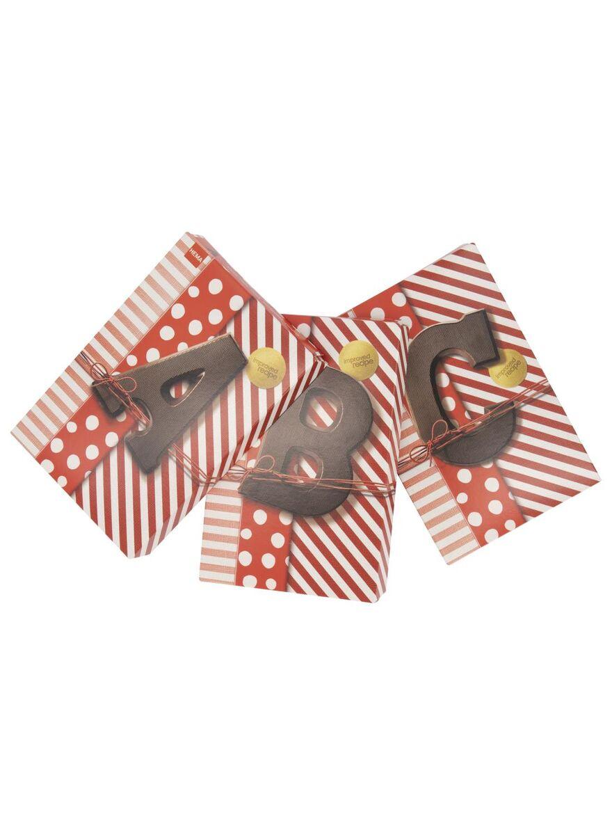Alle chocoladeletters 4+1 gratis bij HEMA