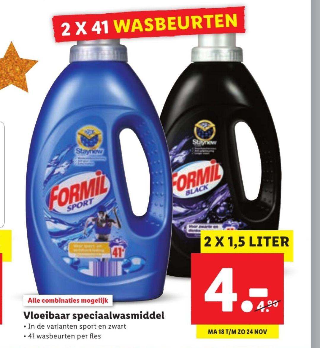 Vloeibaar Speciaal Wasmiddel Lidl. 82 wasbeurt en voor €4,-