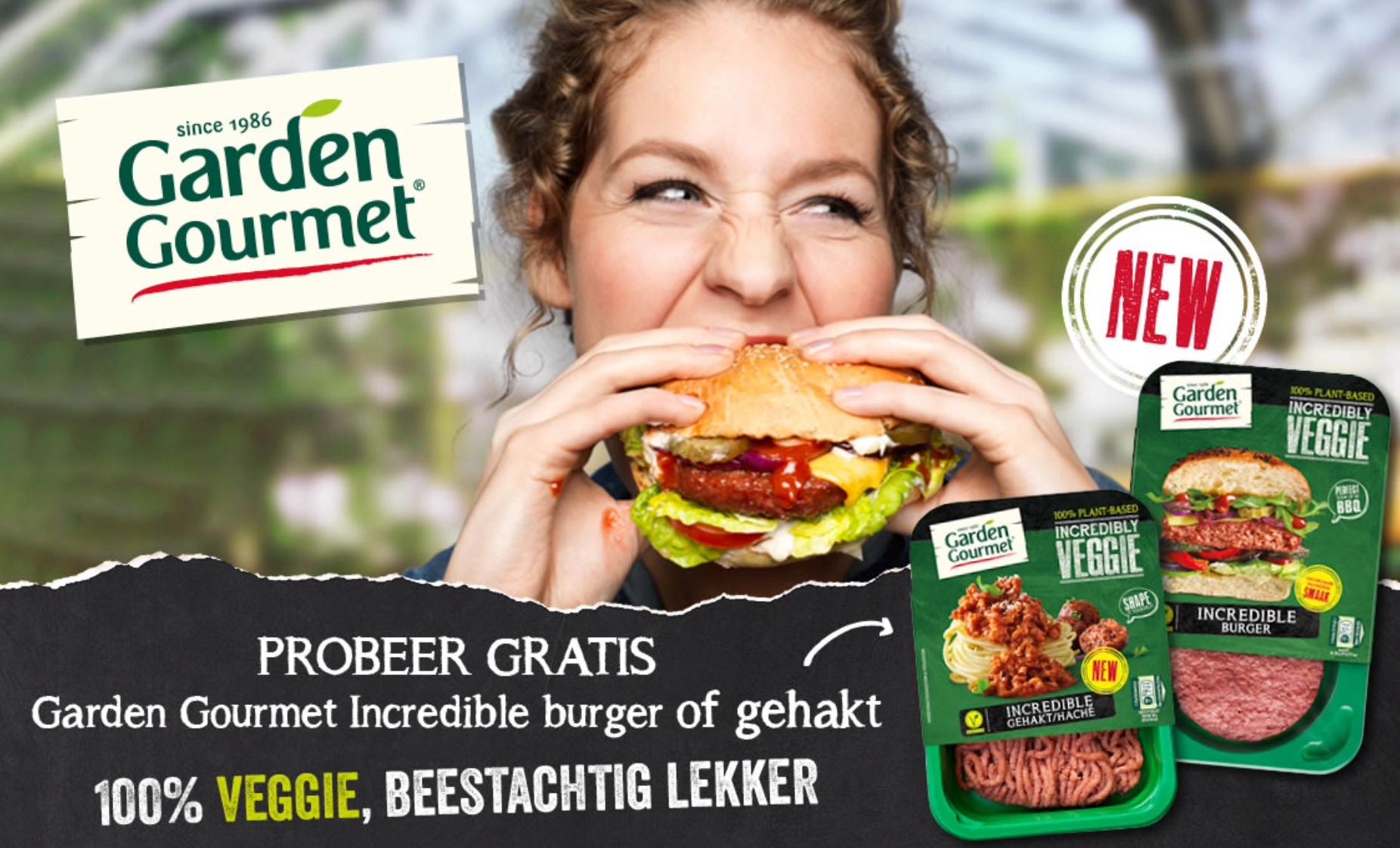 Probeer nu gratis Garden Gourmet Incredible Burger of gehakt