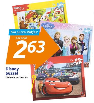 [vanaf vandaag] Disney Puzzel 500 stukjes voor €2,63 @ Action
